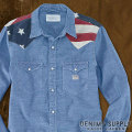 �ǥ˥�&���ץ饤 :  Long-Sleeved Cowboy Flag Shirt