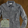 �ǥ˥�&���ץ饤 :  Beach Denim Western Shirt