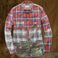 �ǥ˥�&���ץ饤 :  Camo Patchwork Ward Shirt