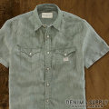 �ǥ˥�&���ץ饤 :  Denim Short-Sleeved Shirt