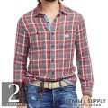 �ǥ˥�&���ץ饤�����ե?��� : Plaid Cotton Shirt [���åȥ�2���ϡ������å�����ŵ�����]