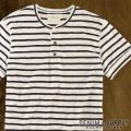 �ǥ˥�&���ץ饤 : Striped Short-Sleeved Henley [Ⱦµ���إ�꡼T�����]