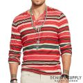 �ǥ˥�&���ץ饤�����ե?��� : Striped Cotton Henley [����֥��åȥ󥸥㡼������ŵ�إ�꡼]