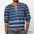 �ǥ˥�&���ץ饤�����ե?��� : Patchwork Cotton Henley [����֥��åȥ󥸥㡼������ŵ�إ�꡼]