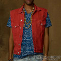 �ǥ˥�&���ץ饤 : Colored Denim Vest