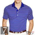 RLX ゴルフ/ラルフローレン : Active-Fit Striped Jersey Polo [軽量/速乾/ストレッチ/半袖ポロシャツ]