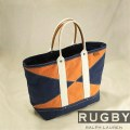 ���ե?���饰�ӡ���Rugby : Navy & Orange Color-Block Tote