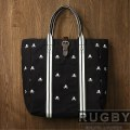���ե?���饰�ӡ���Rugby : Canvas & Leather Skull Tote