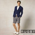 �ں߸�¨Ǽ�ۥ��ե?���饰�ӡ���Ralph Lauren RUGBY : UNIVERSITY MADRAS SHORT