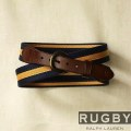 ���ե?���饰�ӡ���Rugby : Navy & Gold Surcingle Belt