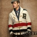 ���ե?���饰�ӡ���Rugby : Vintage Striped Cardigan