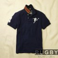 ���ե?���饰�ӡ���Rugby : Striped Collar Big Kicker Polo