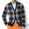 �ݥ���ե?��� : Plaid Cashmere Cardigan