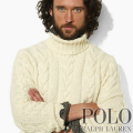 �ݥ���ե?��� : Wool Cabled Turtleneck Sweater