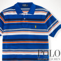 ? : Custom-Fit Multi-Striped Polo