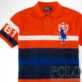 ? : Striped Big Pony Rescue Polo