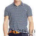 �ݥ���ե?��� : Striped Indigo Jersey Polo [����ǥ��������åȥ㡼�������ܡ���������Ⱦµ�ݥ?���]