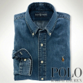 �ݥ���ե?��� : Custom-Fit Denim Shirt