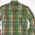 �ݥ���ե?��� : Ikat Plaid Military Shirt [����������ɡ������åȥ����å���ŵ�����]