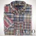 �ݥ���ե?��� : Cotton Madras Patchwork Shirt [��ä���ե��åȡ����åȥ�ޥɥ饹���ѥå������Ⱦµ�����]
