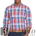 ポロラルフローレン : Plaid Cotton Oxford Shirt [ゆったり/オックスフォード/長袖シャツ]
