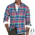ポロラルフローレン : Plaid Twill Sport Shirt [ゆったり/コットンツイル/長袖シャツ]