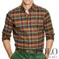 ポロラルフローレン : Plaid Cotton Twill Shirt [ゆったり/コットンツイル/長袖シャツ]