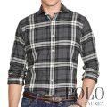 ポロラルフローレン : Plaid Cotton Twill Sport Shirt [ゆったり/コットンツイル/長袖シャツ]