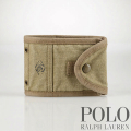 �ݥ���ե?���Polo : Canvas Distressed Snap Wallet