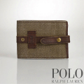 �ݥ���ե?���Polo : Canvas-Leather Snap Wallet
