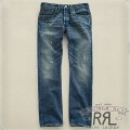 RRL : Slim Bootcut Distressed Denim