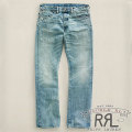 RRL : Slim Bootcut Bright Sky Denim