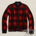 RRL : Buffalo-Checked Cardigan
