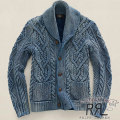 RRL : Cable Shawl-Collar Cardigan