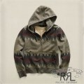 RRL�����֥륢���륨�� : Patterned Fleece Hoodie