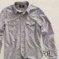 RRL : Chambray Striped Western Shirt