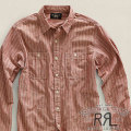 RRL : Chambray Striped Workshirt