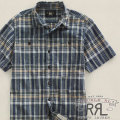RRL : Short-Sleeved Plaid Shirt