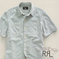 RRL : Short-Sleeved Gingham Shirt
