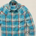 RRL�����֥륢���륨�� : Linen-Cotton Buffalo Shirt [��ͥ�֥��ɥ��åȥ�ĥ���/�����������]