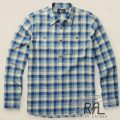 RRL�����֥륢���륨�� : Plaid Cotton Dobby Shirt [���åȥ�ɥӡ��������å������ݥåץ����С������]