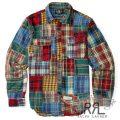 RRL/ダブルアールエル : Patchwork Cotton Workshirt [シーズンコレクション生地パッチワーク/ワークシャツ]