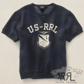 RRL : Short-Sleeved Fleece Crewneck