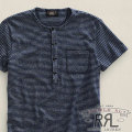 RRL : Short-Sleeved Striped Henley