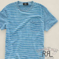 RRL : Astor Striped Pocket T-Shirt