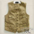 RRL : Stirling Cotton Waistcoat