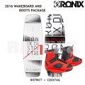 RONIX ��˥å��� 2016 District �ǥ����ȥꥯ�� 134cm+Cocktail Boot US:8-9 ���������ܡ��ɡ����å�