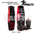 HYPERLITE �ϥ��ѡ��饤�� 2016 ���������ܡ��� ���å� State 2.0 135cm+Remix Boots US:7-10.5
