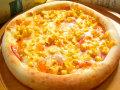 ピザ チェダーチーズとロースハムのグラタンソース