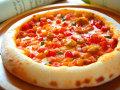 ピザ カポナータとベーコンのトマトソース